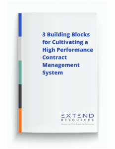 eBook: 3 Building Blocks for Cultivating a High Performance Contract Management System