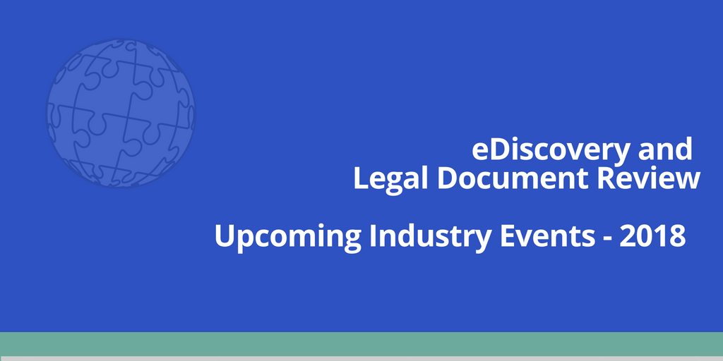 Upcoming eDiscovery Events