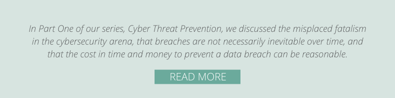 Blog: Cyber Threat Prevention