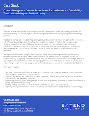 Thumbnail: Contract Management Reconciliation, Standardization, and Data Visibility Improvement
