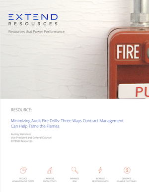 Thumbnail: Minimizing Audit Fire Drills: Three Ways Contract Management Can Help Tame The Flames